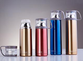 不锈钢真空保温杯(带杯盖)-双层不锈钢,保温8小时