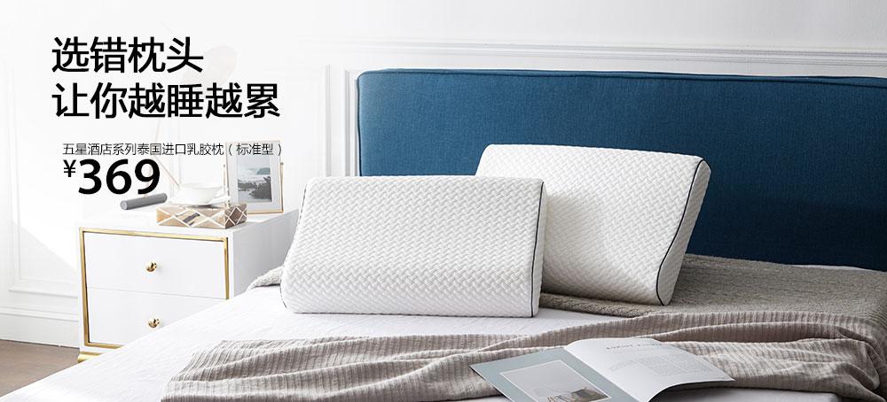 五星酒店系列泰国进口乳胶枕(标准型)