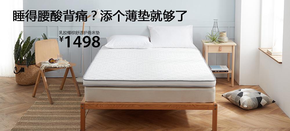乳胶椰棕正反两用护脊床垫